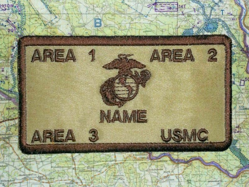 KILL PATCH USMC ID w/Fastener and Custom Embroidery Name/Rank/BLOOD/Unit