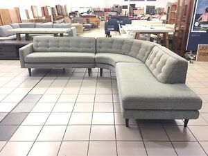 MID CENTURY DESIGN CORNER LOUNGE W/TIMBER LEGS Logan Central Logan Area Preview
