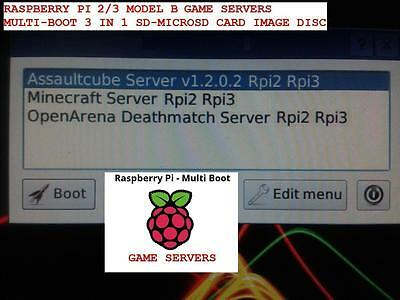 Raspberry Pi 2   3 Game Servers Multi Boot Openarena   Assaultcube   Minecraft