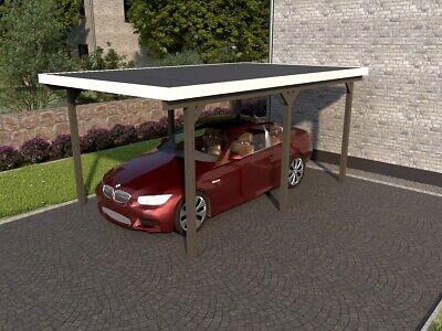 Holz Carport 500x300cm 5x3m Einzelcarport Garage Flachdach incl. Dacheindeckung