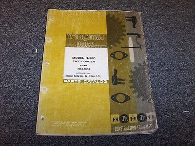 International Harvester H50c Wheel Pay Loader Parts Catalog Manual Book