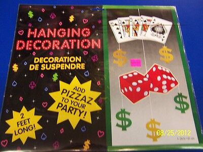 Casino Night Cards Poker Dice Prom Theme Party Banquet Hanging Decoration](Casino Theme Party Decorations)