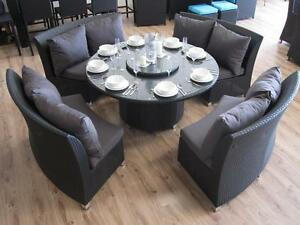 Quick Cheap Delivery! Outdoor Dining Set with Lazy Susan Wangara Wanneroo Area Preview