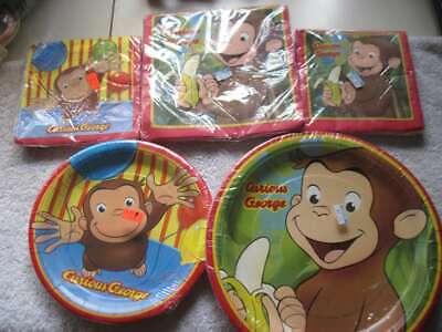 Unique Paper Plates (Curious George Unique Party Paper Plates Napkins Invitations Balloons)