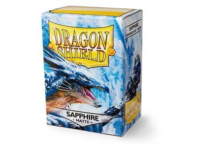 (Dragon Shield Standard Size Card matte Sleeves SAPPHIRE Magic Pokemon 100ct box)