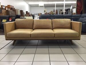 ITALIAN LEATHER - BOULEVARD 3 SEATER LOUNGE Logan Central Logan Area Preview