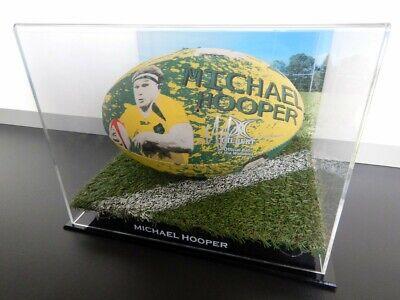 ✺Signed✺ MICHAEL HOOPER Wallabies Football PROOF COA NSW Waratahs 2021 Jersey image