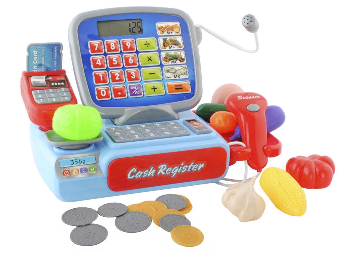 Registrierkasse Kaufladen Kinder mit Kasse Scanner Spiel Spielzeug  4476