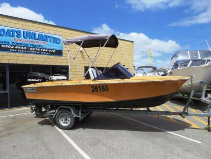PENGUIN PHANTOM RUNABOUT WITH A FOUR STROKE, GREAT FIRST BOAT