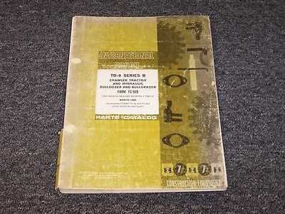 International Harvester Td9b Hydraulic Bulldozer Bullgrader Parts Catalog Manual