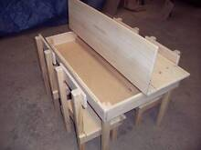 Kids Unstained Solid Pine Table & 4 Chairs Munno Para Playford Area Preview