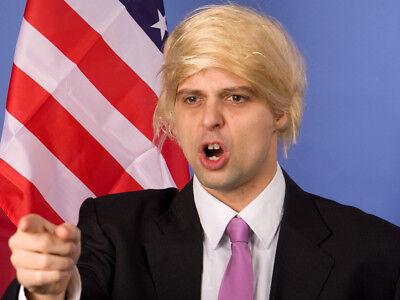 blonde Donald Trump Perücke Karneval Fasching Toupet Präsident
