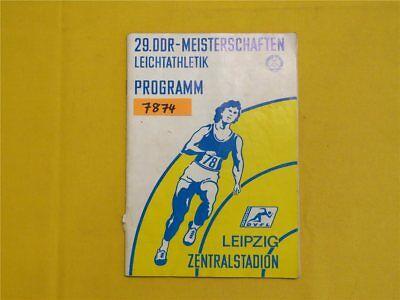 29. DDR Meisterschaften Leichtathletik Programm 1978 Leipzig Zentralstadion