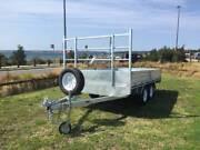 12x7 Flat Bed Top Galvanised 3000kg Electric Braked Trailer Kurnell Sutherland Area Preview