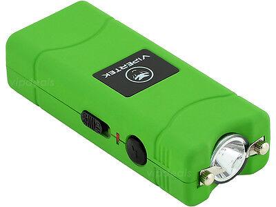 VIPERTEK GREEN VTS-881 35 BV Micro Rechargeable LED Police Stun Gun Taser Case
