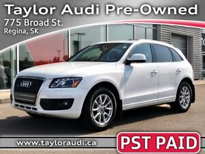 2012 Audi Q5 2.0T Premium Plus LOCAL TRADE, 1 OWNER, PST PAID...
