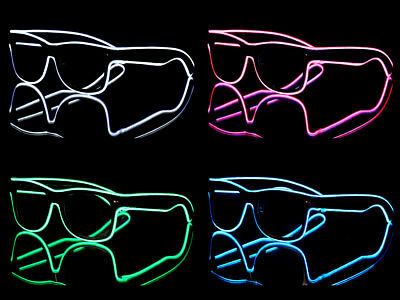 de LED Nerd Partybrille Retro Brille Blinki Akustik Sensor  (Brille Led)