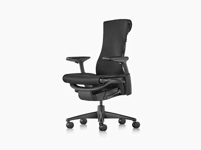 Herman Miller Embody Office Chair Brand New Black Rhythm Fabric