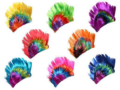 nk-perücke Iro bunt Karneval Fasching Rocker Irokese Punker  (Rocker Perücken)