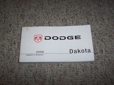 2008 Dodge Dakota Owner Manual ST SXT SLT Sport TRX Bighorn Lovestar Laramie