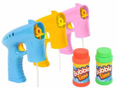 Bubble Gun 054/573 autom. Seifenblasenpistole mit Licht 2x Lauge Seifenblasen ()