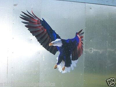 American Flag eagle Hood Tailgate Window Trailer Decal Sticker Graphics Decals