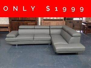 ORION LEATHER CORNER LOUNGE - FURNITURE OUTLET Granville Parramatta Area Preview