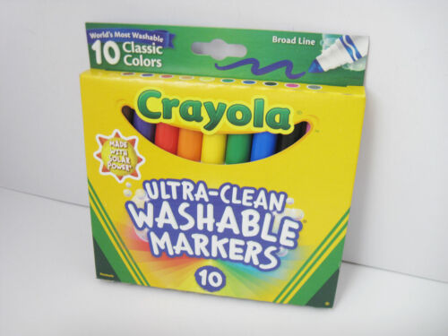 50 Boxes Crayola Ultra Clean Broad Line Classic Colors Washable Markers 10ct Lot