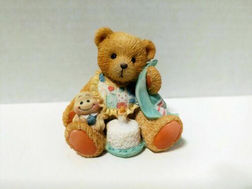 Cherished Teddies Age 1 Beary Special One bear figurine 1992 Hamilton 911348