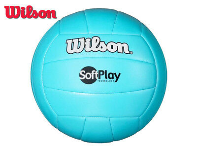 *CLEARANCE NEW* WILSON - SOFT PLAY VOLLEYBALL - 300G - CYAN
