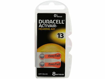 Duracell Activair Hearing Aid Batteries Size 13 Exp 09 2022 -8 to 160 batteries ()