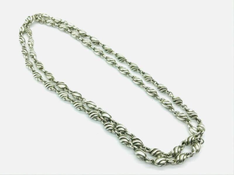 Georg Jensen #383 Rare Sterling Silver Denmark Heavy Link Necklace