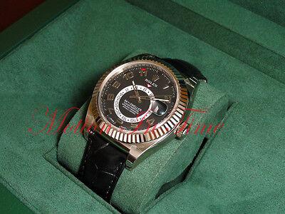ROLEX SKY DWELLER 18KT WHITE GOLD BLACK ANNUAL CALENDAR DUAL TIMEZONE GMT 326139