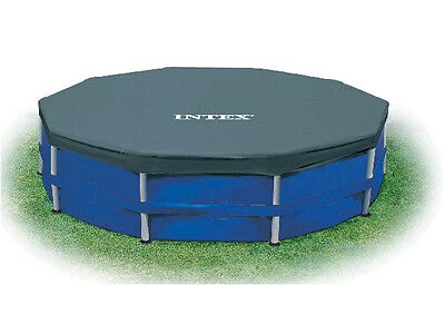Intex 15' Round Pool Cover for Metal & Easy Frame Swimming Pools 58901E