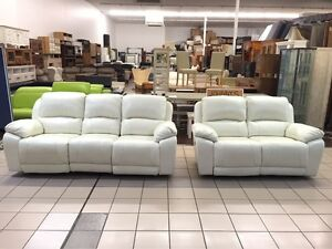 100% LEATHER - 3 + 2 SEATER ELECTRIC RECLINER LOUNGE SUITE Logan Central Logan Area Preview