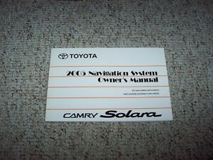 2005 toyota camry solara factory navigation system owner user manual guide book. Black Bedroom Furniture Sets. Home Design Ideas