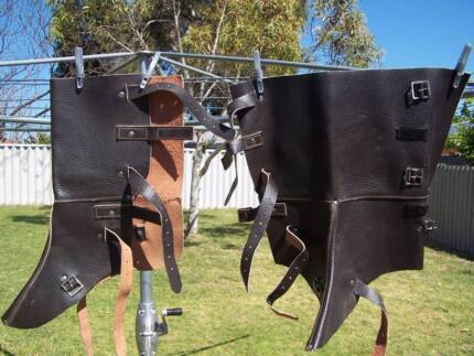 Pair : Leather Shoe/Leg Protectors : Covers : Horse : Gaiters Cooloongup Rockingham Area Preview