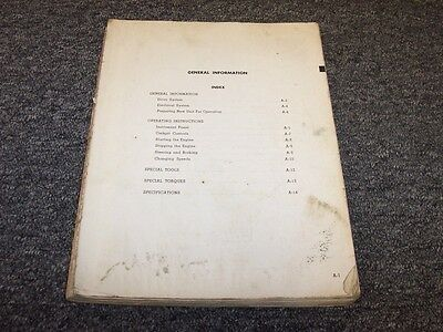 Letourneau Westinghouse V Power C Tournapull Owner Operator Operators Manual