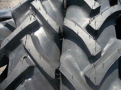 Two 7.2x30 7.2-30 G Allis Chalmers R 1 Bar Lug Tractor Tires Wtubes