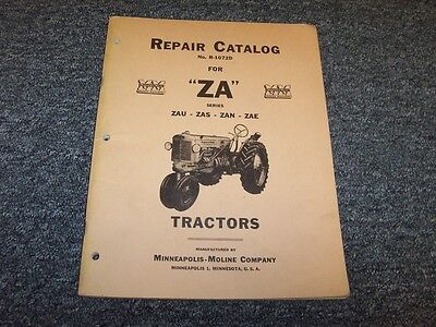Minneapolis Moline Za Zau Zas Zan Zae Series Tractor Shop Service Repair Manual