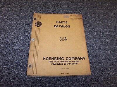 Koehring 304 Crane Dragline Shovel Factory Original Parts Catalog Manual Book