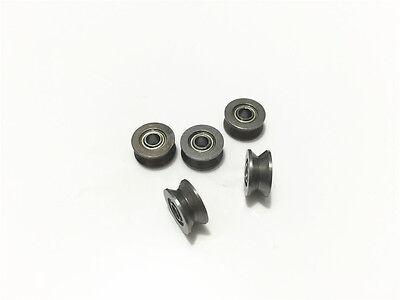 10pcs 624vv V624zz V Groove Sealed Track Pulley Guide Rail Ball Bearing 4x13x6mm