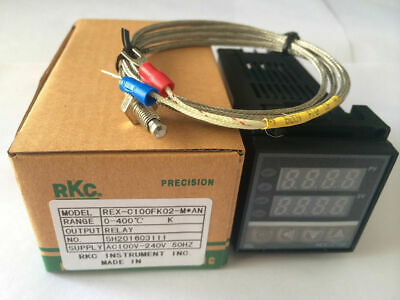 Pid Digital Temperature Controller Rex-c100 With K Thermocouple Relay Output Us