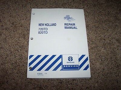 New Holland 720td 820td Disc Mower Conditioner Shop Service Repair Manual Book