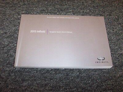 2013 Infiniti EX37 FX37 FX50 G37 Navigation System Owner Owner's Operator Manual
