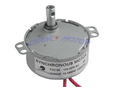 Small Ac Motor Tyc-50 Synchronous Motor 110v Ac 15-18rpm Cwccw 4w Pmsm Motor