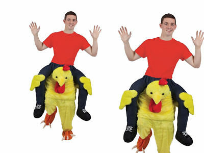 Adulti Carry Me Pollo Costume per Pasqua Pulcino Pasqua Animale Fattoria Costume