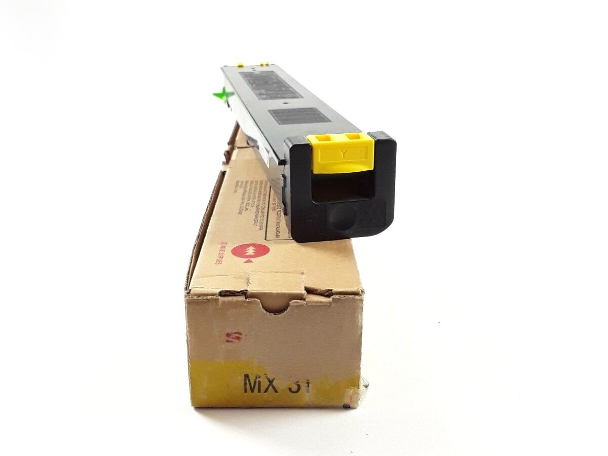 Sharp mx-31gtya toner jaune original laser pour imprimante mx-2600n/mx-3100n