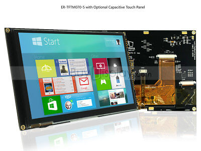 7inch Tft Lcd Module Wmulti-capacitive Touch Screen Paneli2cspitutorial