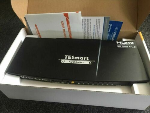 TESmart 4 Port HDMI 2.0 KVM Switch (Black)